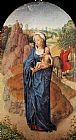 Hans Memling Virgin and Child in a Landscape painting
