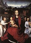 Hans Memling Virgin and Child in a Rose-Garden with Two Angels painting