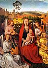 Hans Memling Wall Art - Virgin and Child with Musician Angels