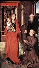 Hans Memling Wall Art - Virgin and Child with St Anthony the Abbot and a Donor