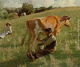 Harold Harvey - Summer Milking