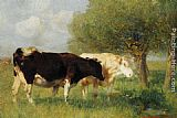Heirich von Zugel - Two Cows in a Meadow