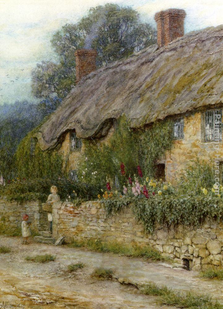 Helen Mary Elizabeth Allingham A Mother And Child Entering A Cottage