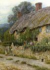 Helen Mary Elizabeth Allingham - A Mother And Child Entering A Cottage