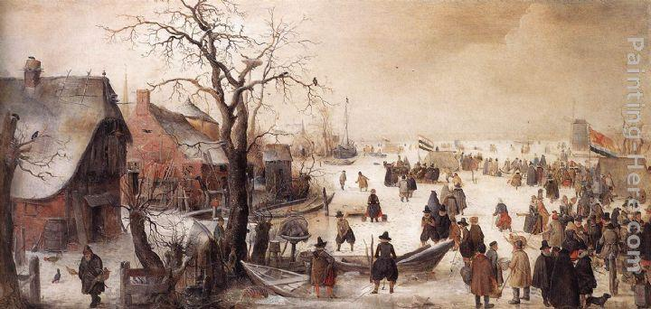 Hendrick Avercamp Winter Scene on a Canal