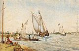Hendrick Avercamp - River Landscape