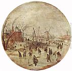 Winter Wall Art - Winter Landscape with Skaters