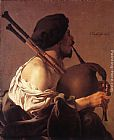 Hendrick Terbrugghen - Bagpipe Player