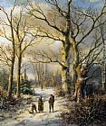 Winter Wall Art - Woodgatherers in a Winter Forest