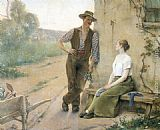 sant Wall Art - Peasant Couple in Farmyard