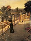 Henri Gervex - An Elegant Man on a Terrace