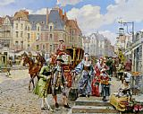Henri Victor Lesur - Paris Street in the time of Louis XIV