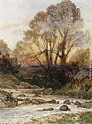 Henri-Joseph Harpignies - A Rocky Landscape with a Torrent of Water