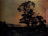 Henri-Joseph Harpignies - Moonlight On The Loire