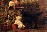 Henriette Ronner-Knip In The Greenhouse painting