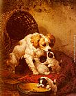 Henriette Ronner-Knip The Happy Family painting
