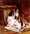 Henriette Ronner-Knip The Happy Litter painting