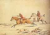 Henry Alken Hunting Scenes Full Cry painting