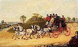 Henry Alken Mail Coaches on an Open Road painting