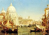 sant Wall Art - A Venetian Canal Scene with the Santa Maria della Salute