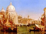 Grand Wall Art - A View Along The Grand Canal With Santa Maria Della Salute