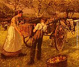 Henry Herbert La Thangue - A Sussex Orchard