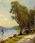 lake Wall Art - Veronese shepherdess Lake Garda