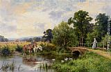 Henry Hillier Parker - Watering the Horses