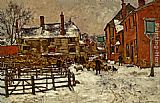 villa Wall Art - A Village in the Snow