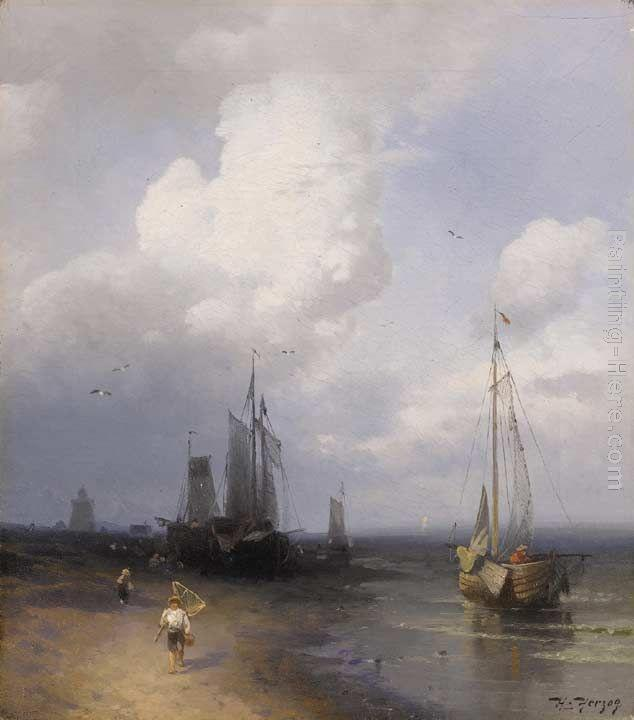 Herman Herzog Dutch Coastal Scene