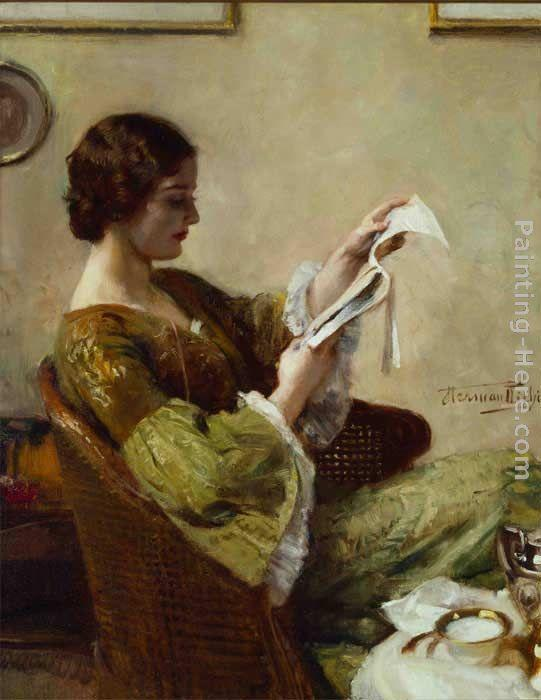 Hermann Jean Joseph Richir Young Woman Reading