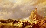 Hermanus Koekkoek Snr - A Shipwreck In Stormy Seas