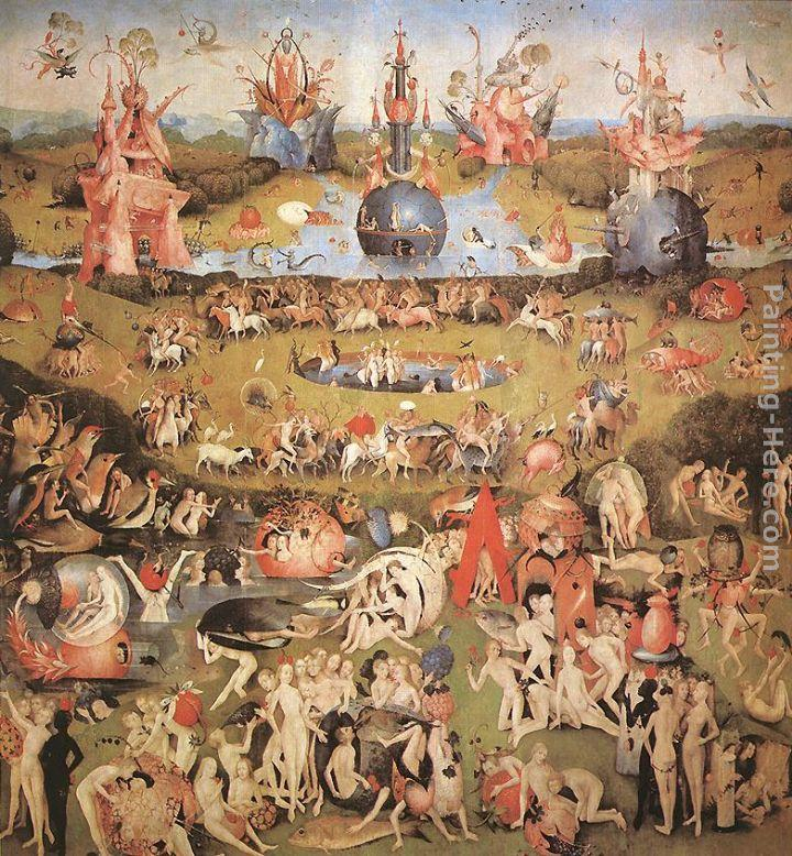 Hieronymus Bosch Garden of Earthly Delights, central panel of the triptych