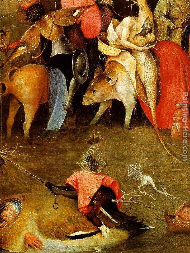 Hieronymus Bosch Temptation of St. Anthony, detail of the central panel
