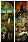 Triptych Wall Art - Paradise and Hell, left and right panels of a triptych