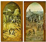 wing Wall Art - Temptation of St. Anthony, outer wings of the triptych