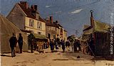 Hippolyte Camille Delpy - Rue Pavoisee A Dieppe