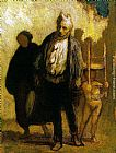 Honore Daumier - Wandering Saltimbanques