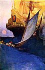 Howard Pyle - Attack on a Galleon