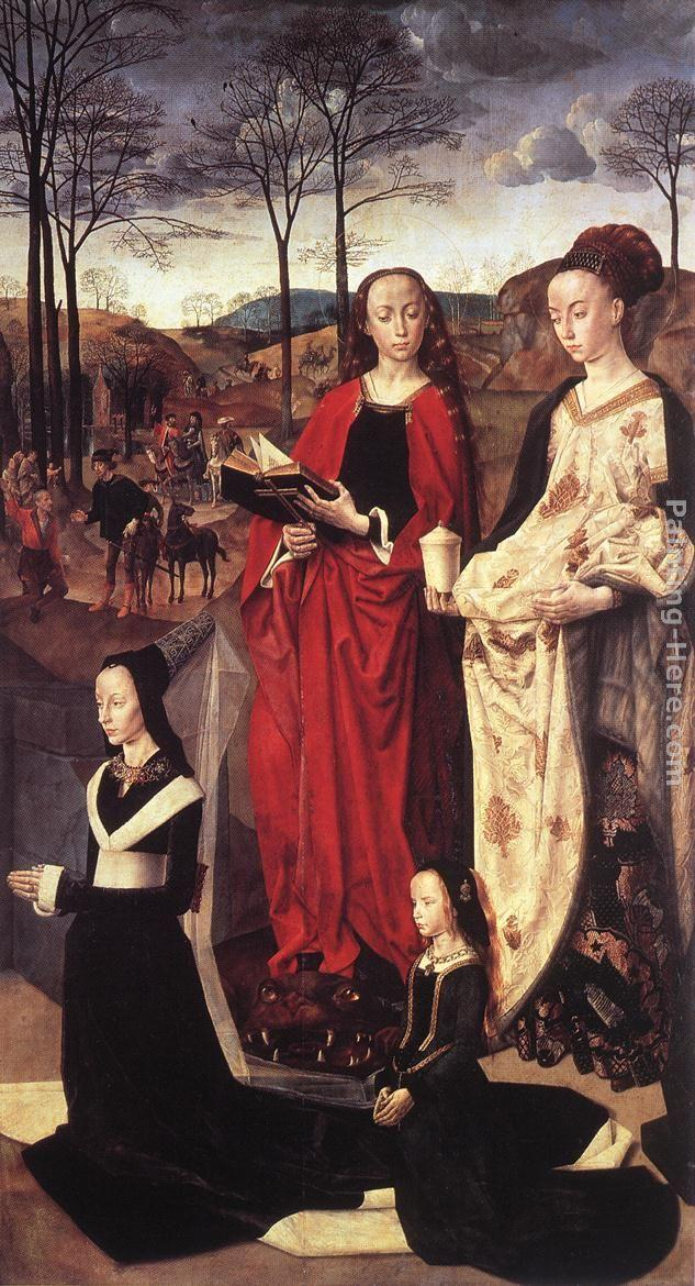Hugo van der Goes Sts. Margaret and Mary Magdalene with Maria Portinari