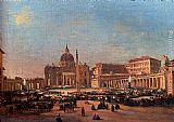 Ippolito Caffi - St. Peter's and the Vatican Palace, Rome