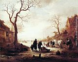 Isack van Ostade - A Canal in Winter