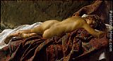 Nude Canvas Paintings - Reclining Nude