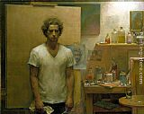 Jacob Collins - Self Portrait with canvas