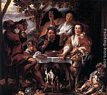 Jacob Jordaens Eating Man painting