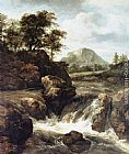 Jacob van Ruisdael - A Waterfall