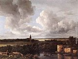Jacob van Ruisdael - An Extensive Landscape with a Ruined Castle and a Village Church