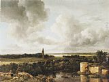 Jacob van Ruisdael - Landscape with Church and Ruined Castle