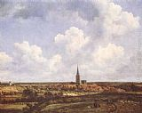Jacob van Ruisdael - Landscape with Church and Village