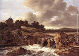 Jacob van Ruisdael - Landscape with Waterfall